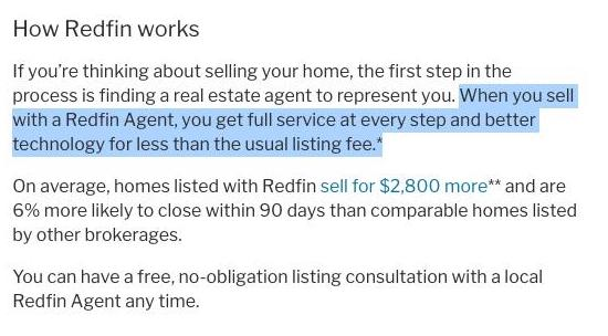 Redfin description of how it works