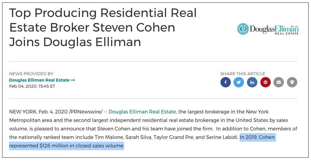Sample press release showing a high-profile agent moving from one real estate brokerage to another