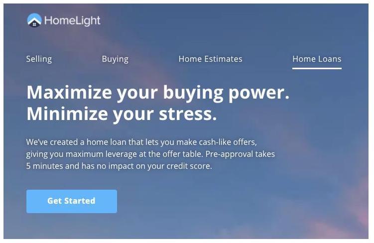 Homelight tagline for home loan service