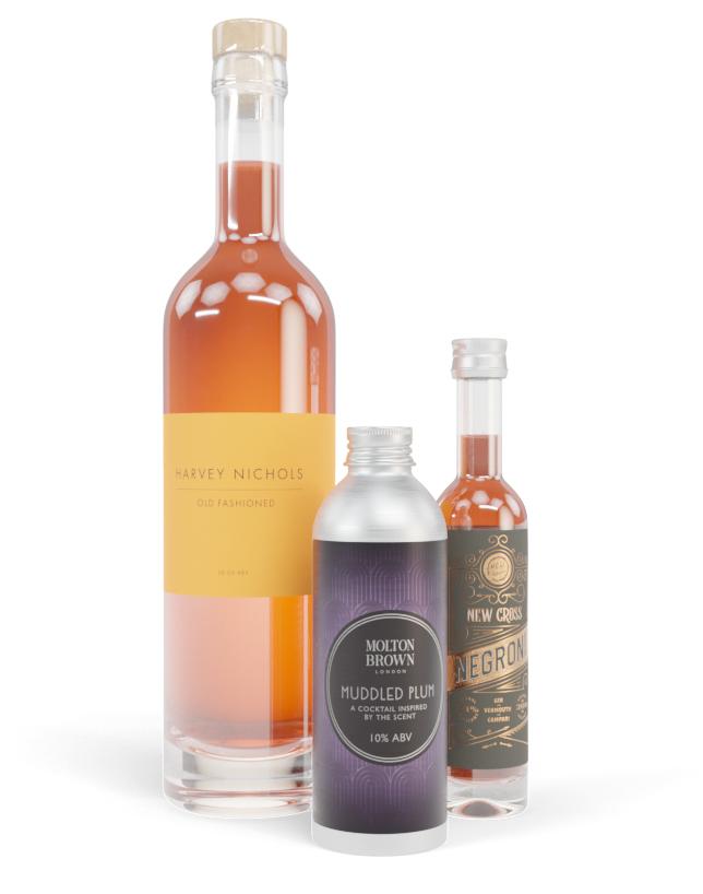 Cocktail bottle label designs