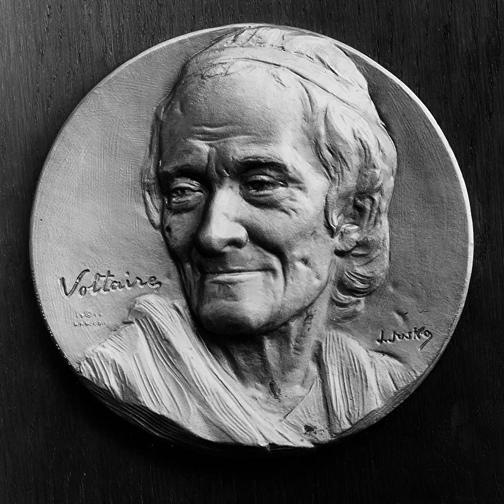 Voltaire, 1674-1778 Plaque by J. Jusko. Library of Congress