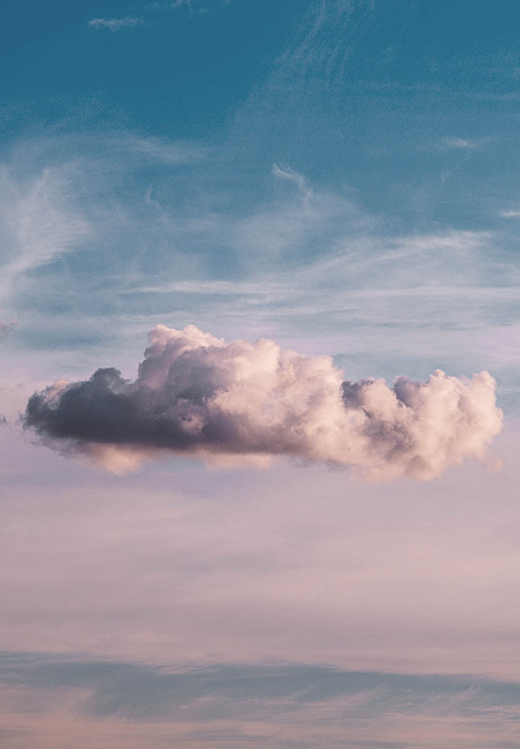 beautiful image of puffy clouds