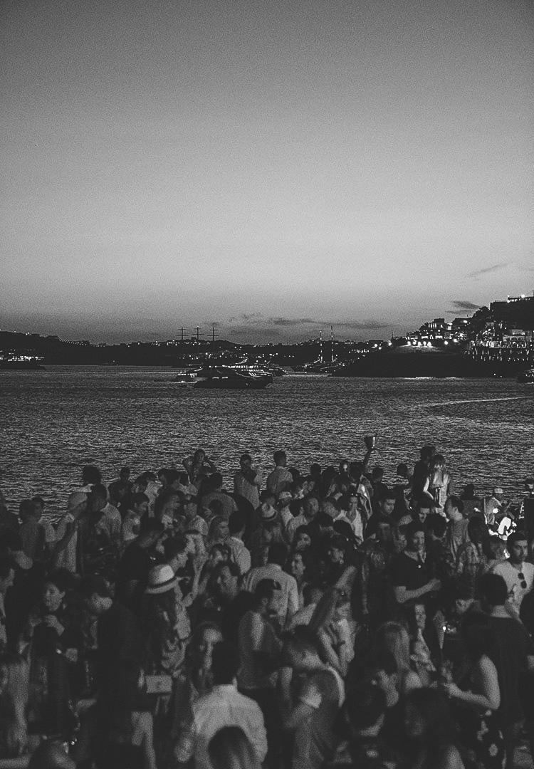 dancing at the beach sunset ritual scorpios mykonos
