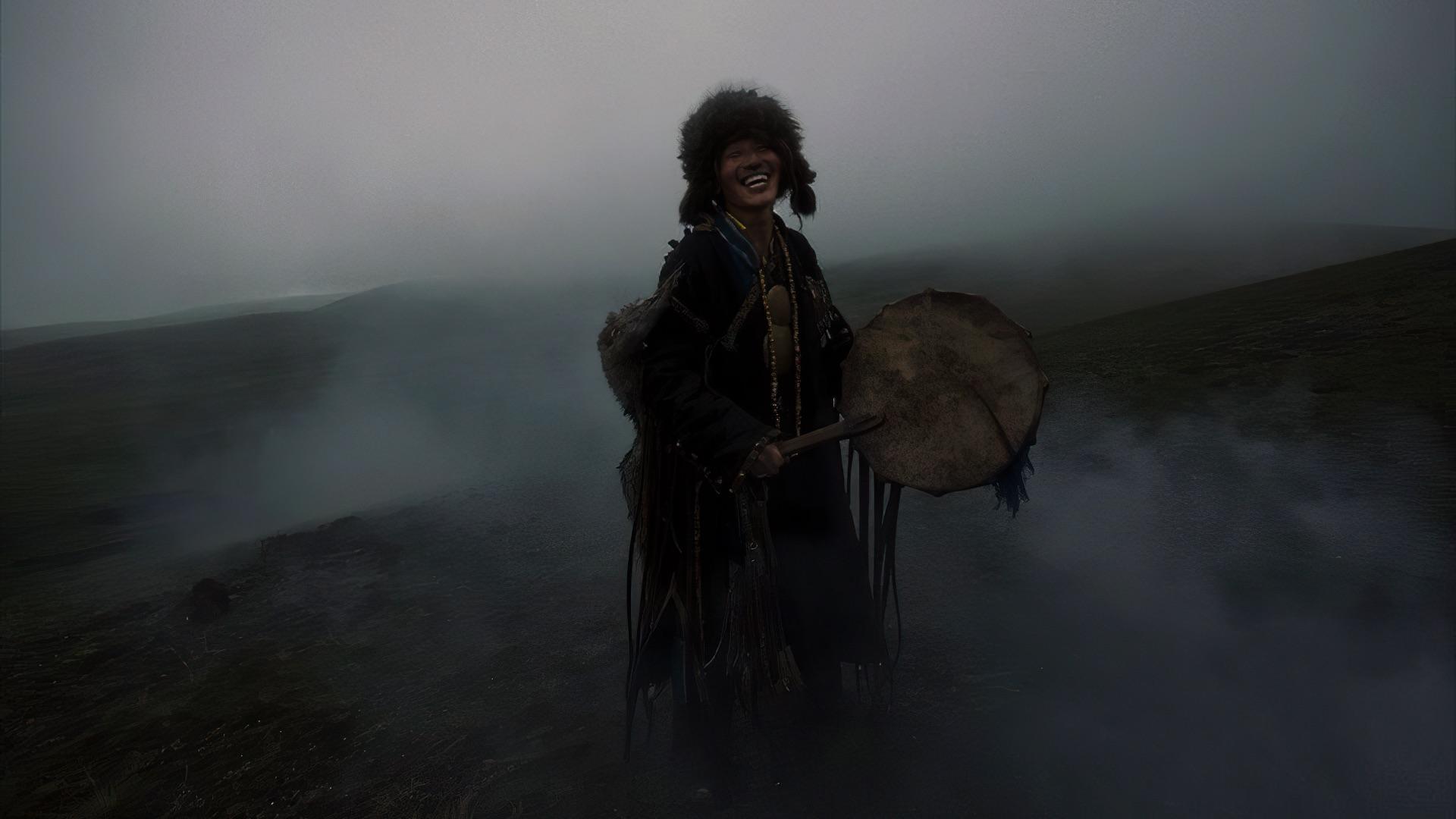 shaman in the night