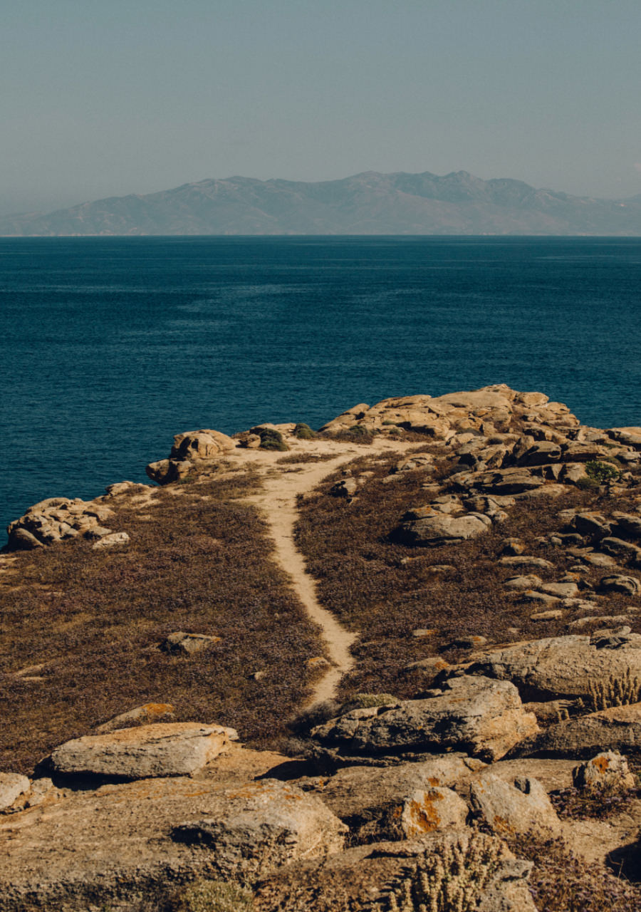beach landscape and rocks in Greece