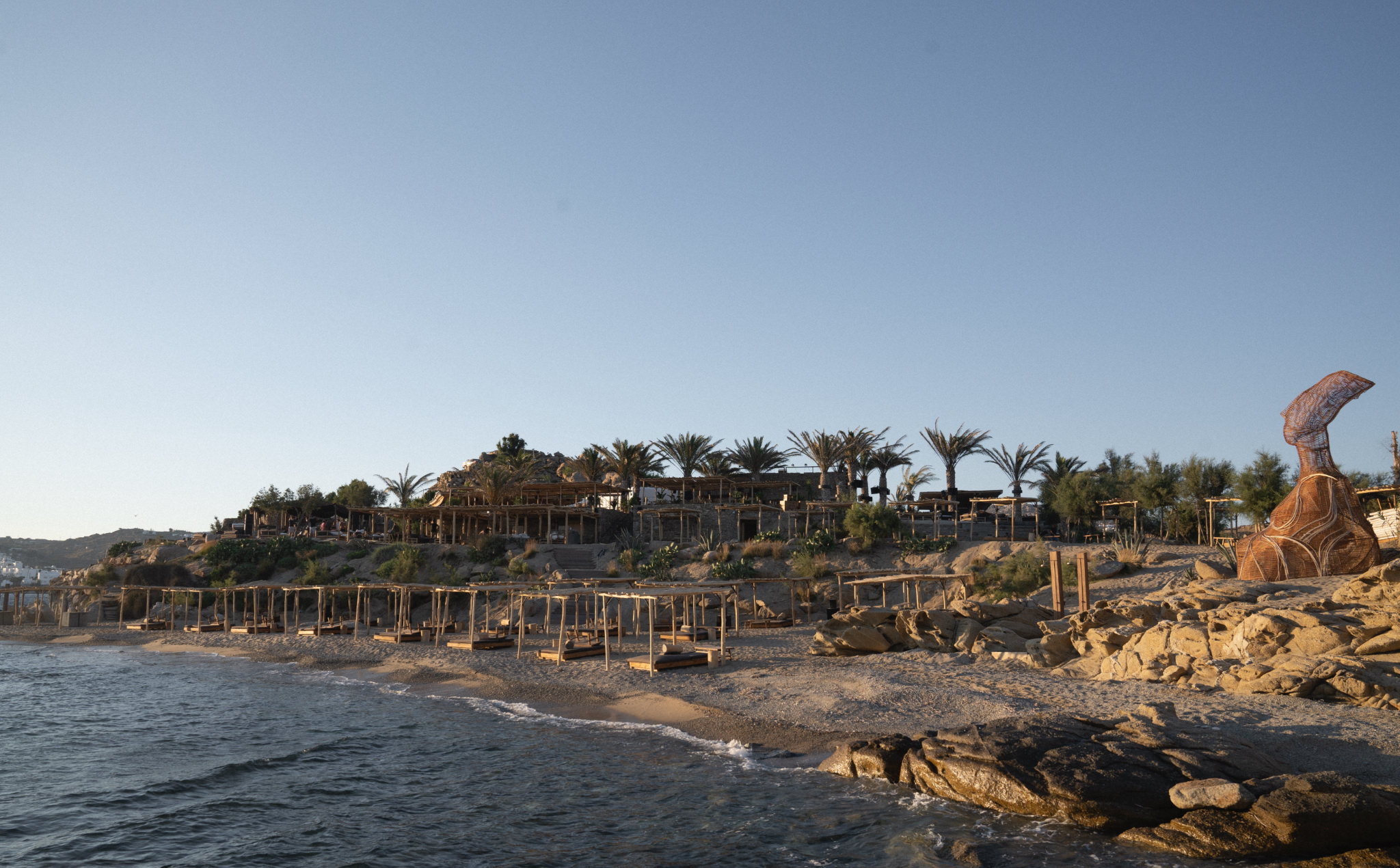 Scorpios Mykonos beach bar and restaurant in Greece