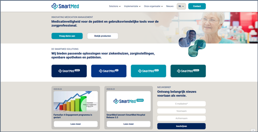 Nieuwe website SmartMed