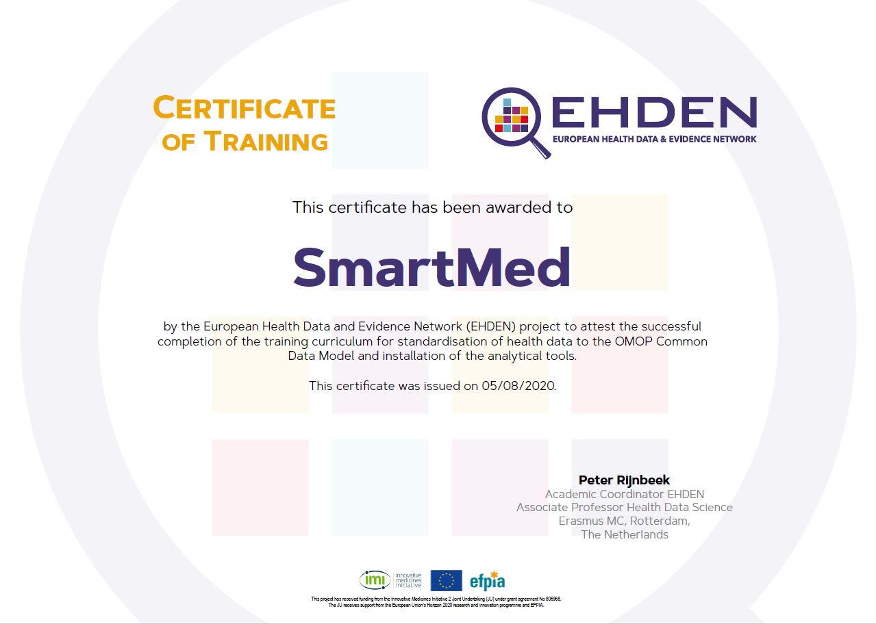 EHDEN certificaat