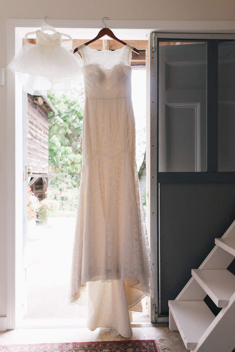 dress hanging  at Starling lane wedding venue by Marlboro Wang Photo for Focal bookfocal.com