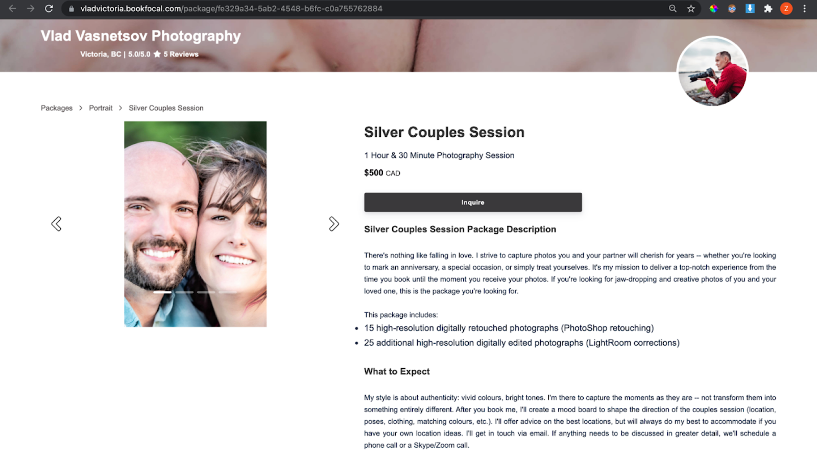 Silver Couples Session in Victoria, BC on Focal's marketplace
