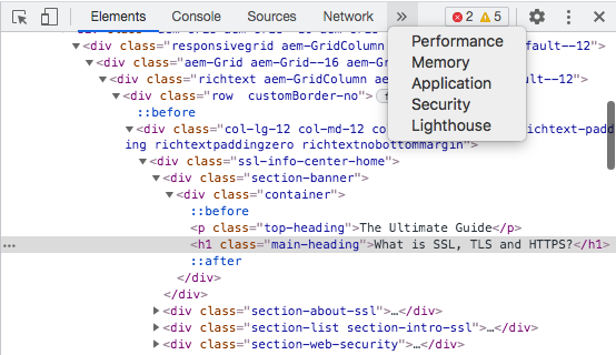 A screenshot of Google's Lighthouse tool.