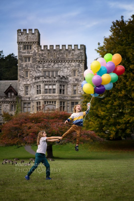 Floating Balloon Fantasy Session Photo by Naomi Maya Photography in Portrait Package, Victoria, BC, Canada