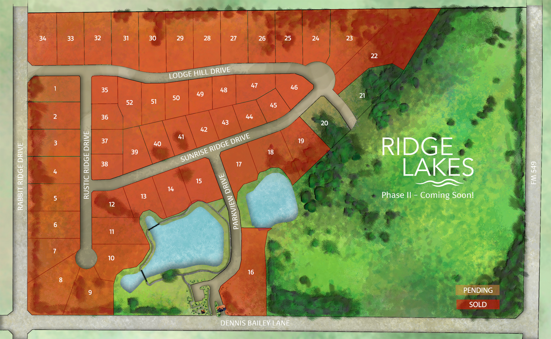 Ridge Lakes Availability