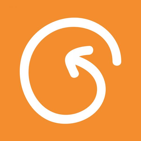 Logo van UpVoty als profiel afbeelding voor de recensies