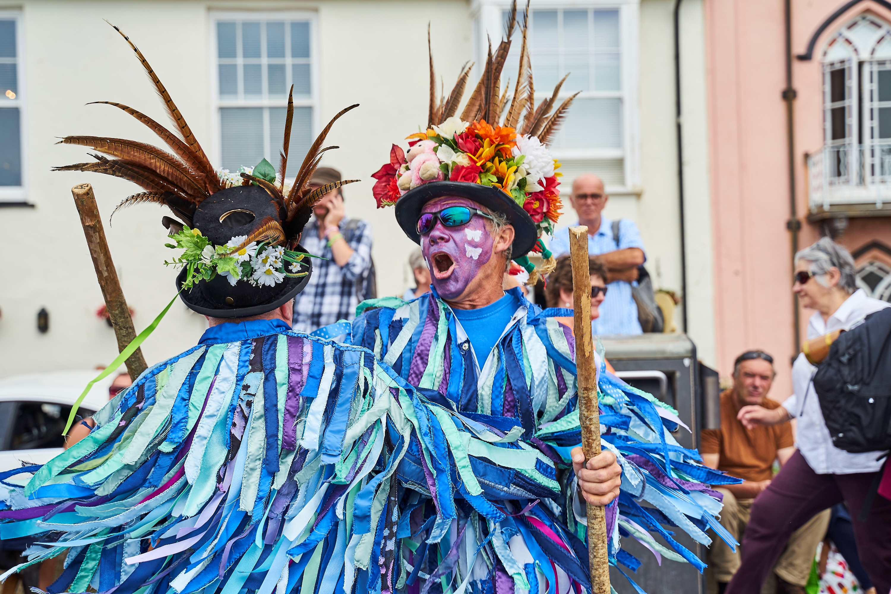 Morris Dancers in feather hats