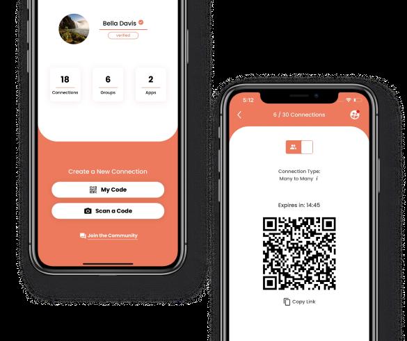 BrightID's mobile app preview