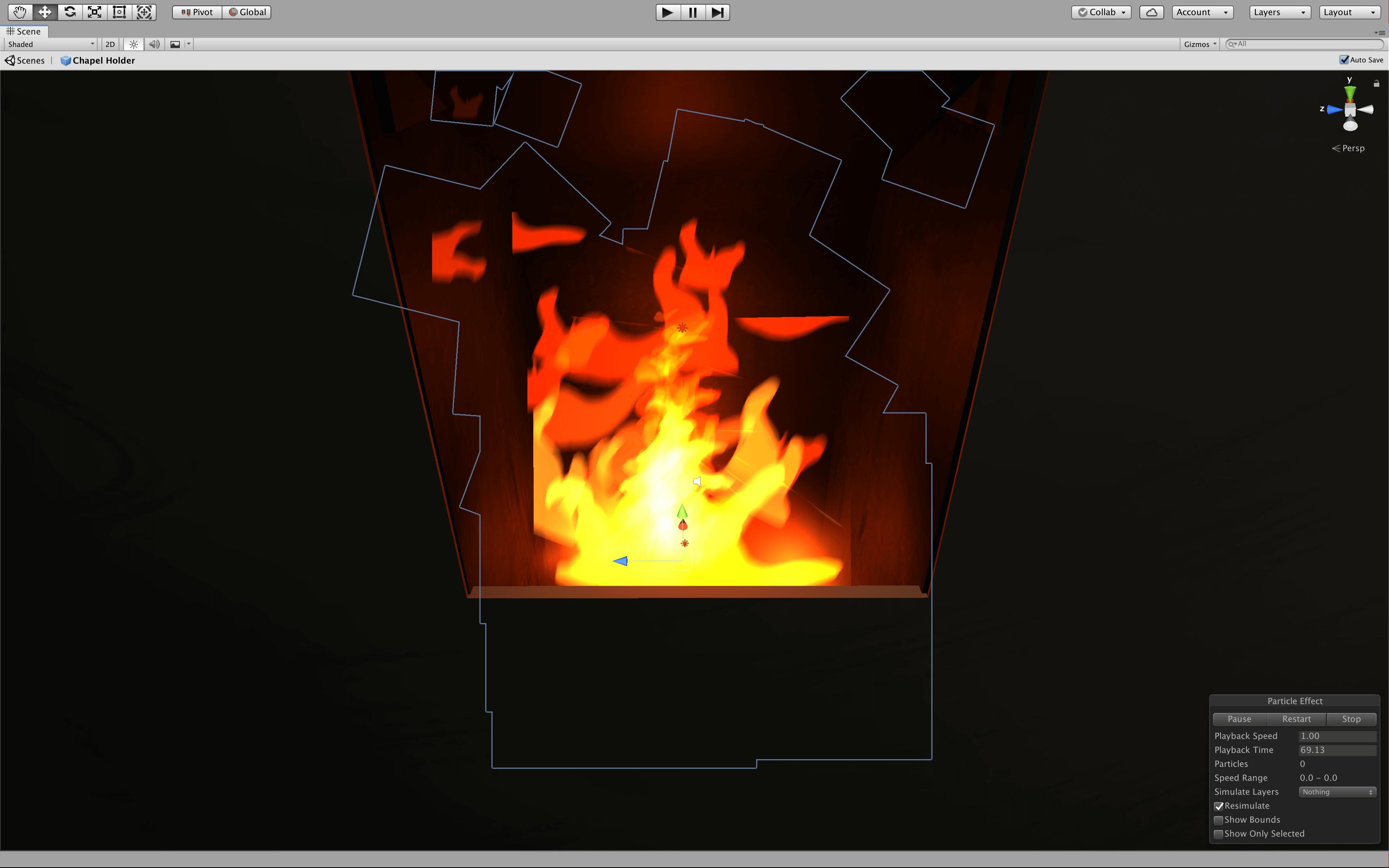 Apple Chapel Unity Fire Screenshot | Toby Everett