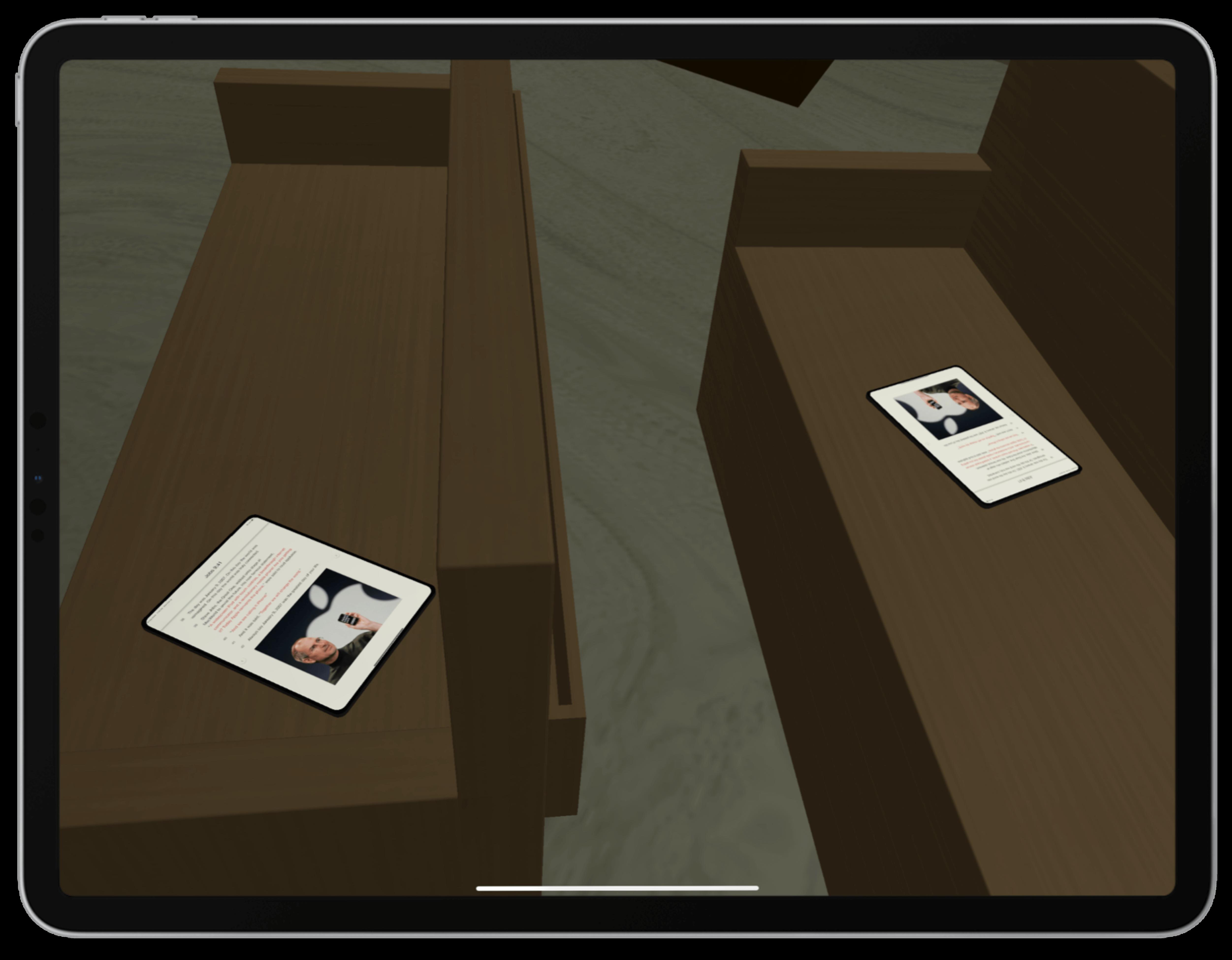 Apple Chapel Pews Screenshot | Toby Everett