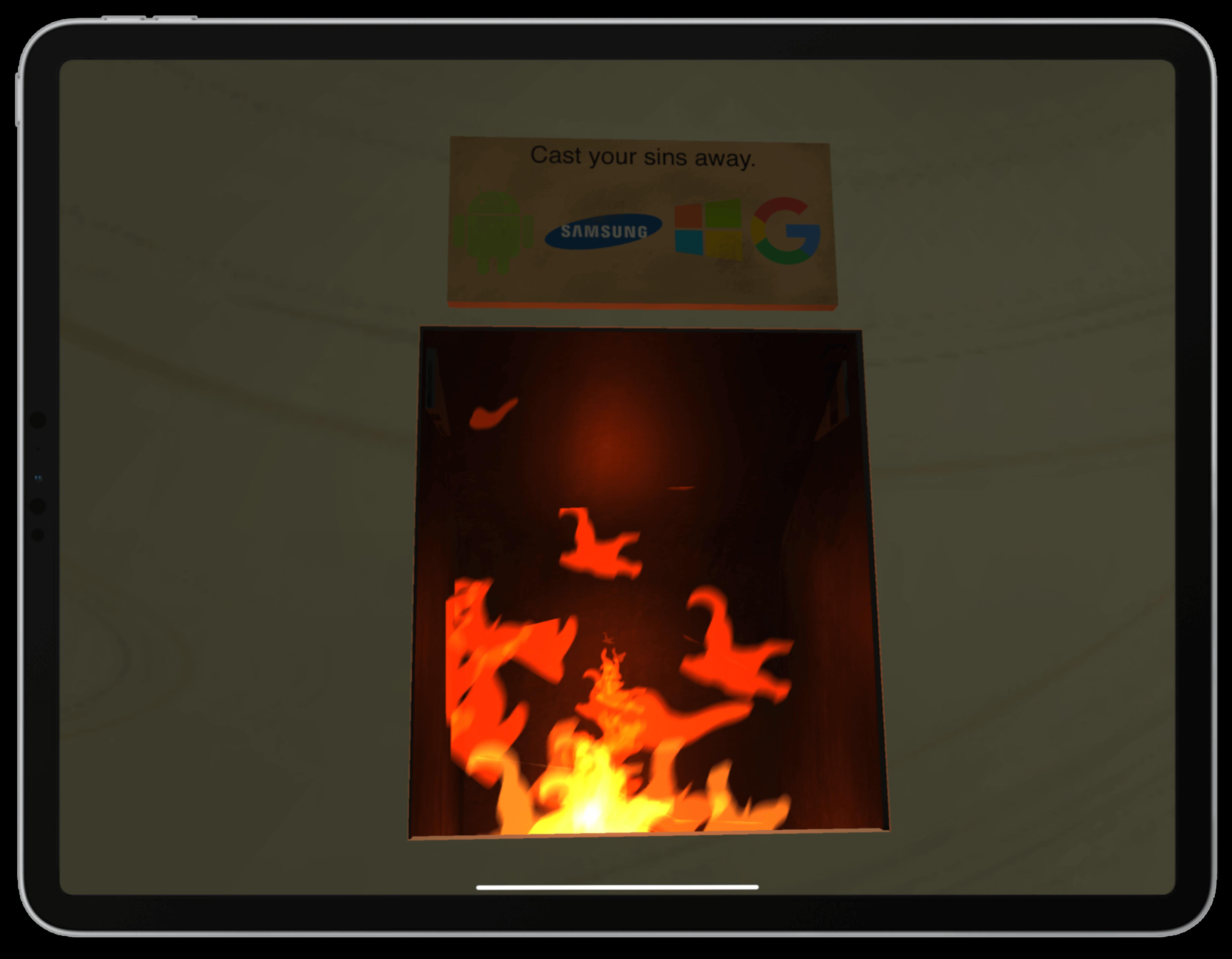 Apple Chapel Fire Screenshot | Toby Everett