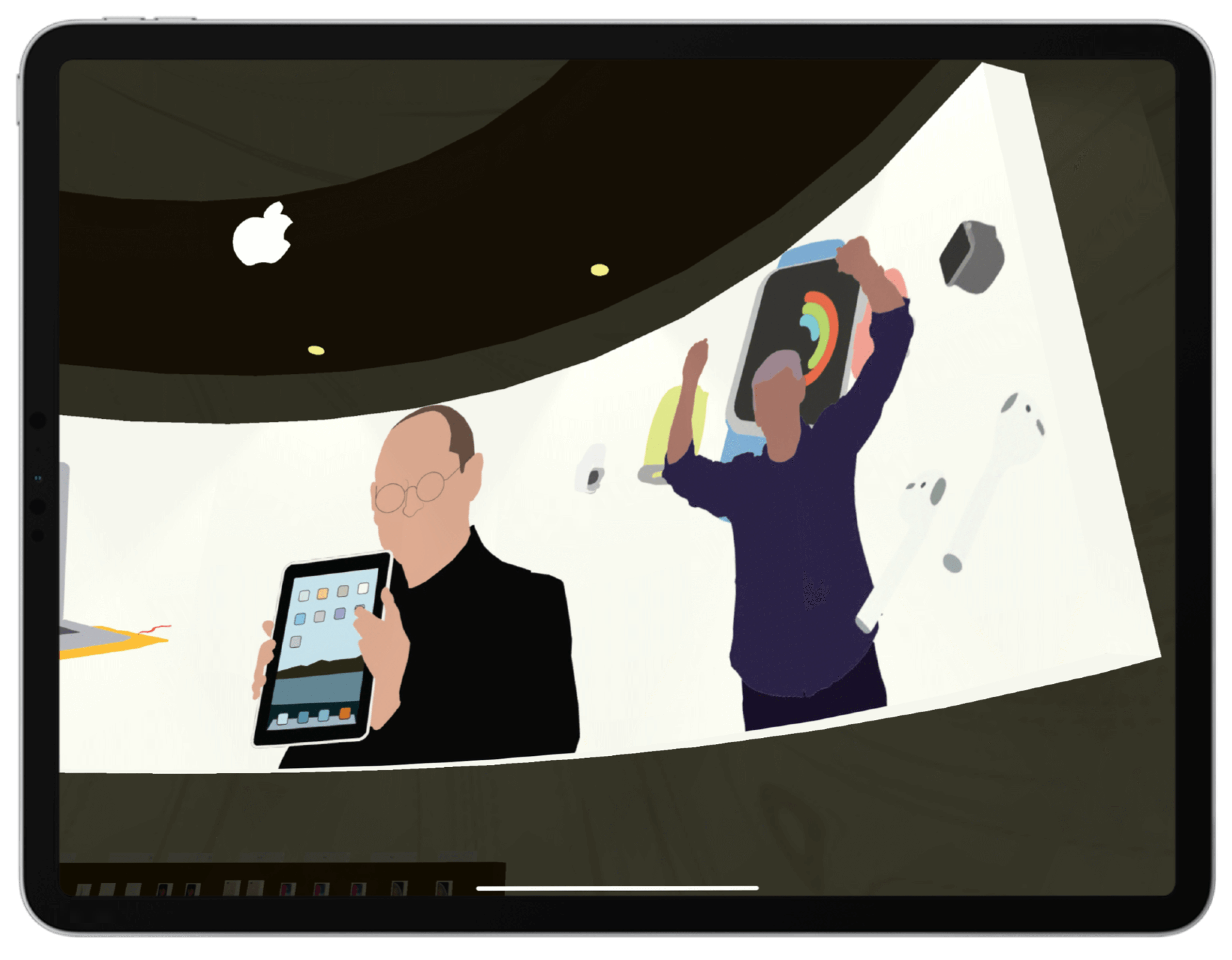 Apple Chapel Mural Screenshot | Toby Everett