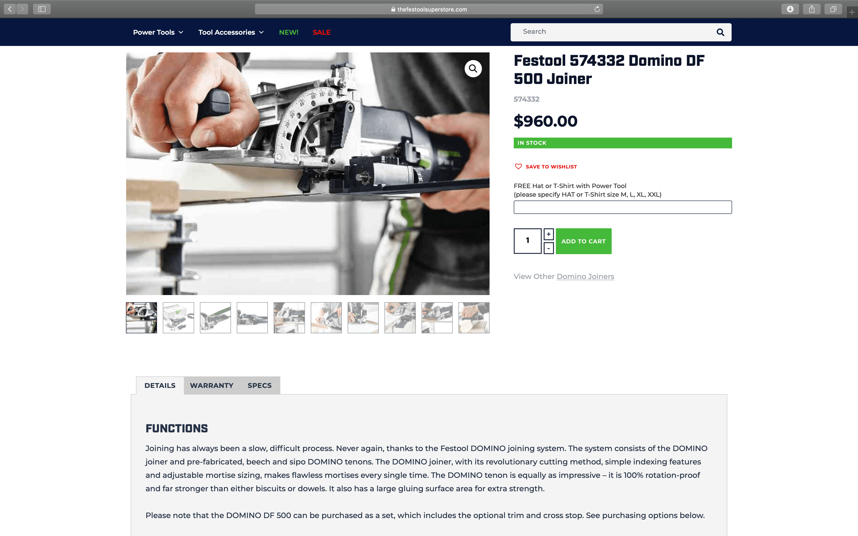 Festool Product Page | Toby Everett