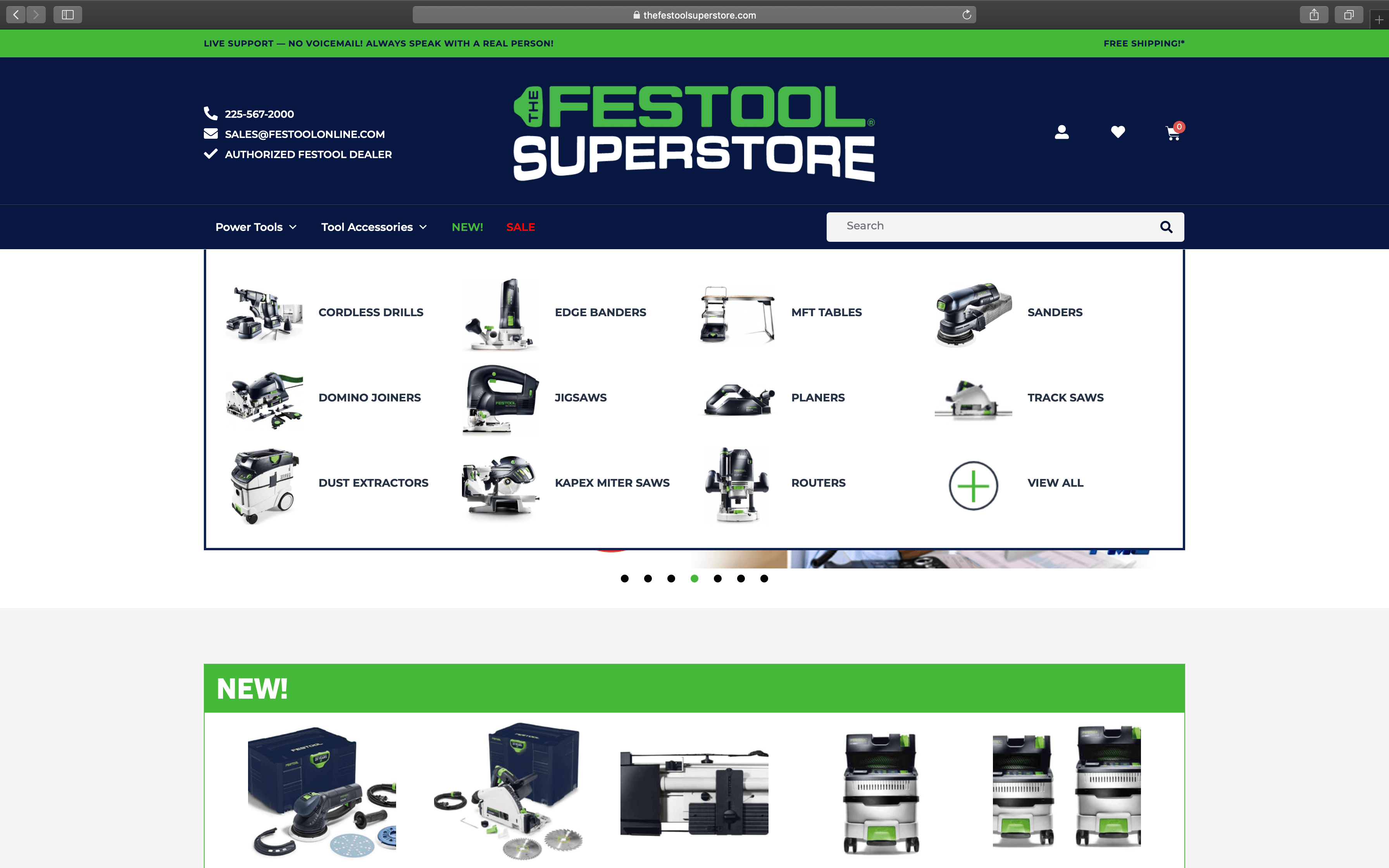 Festool Menu | Toby Everett