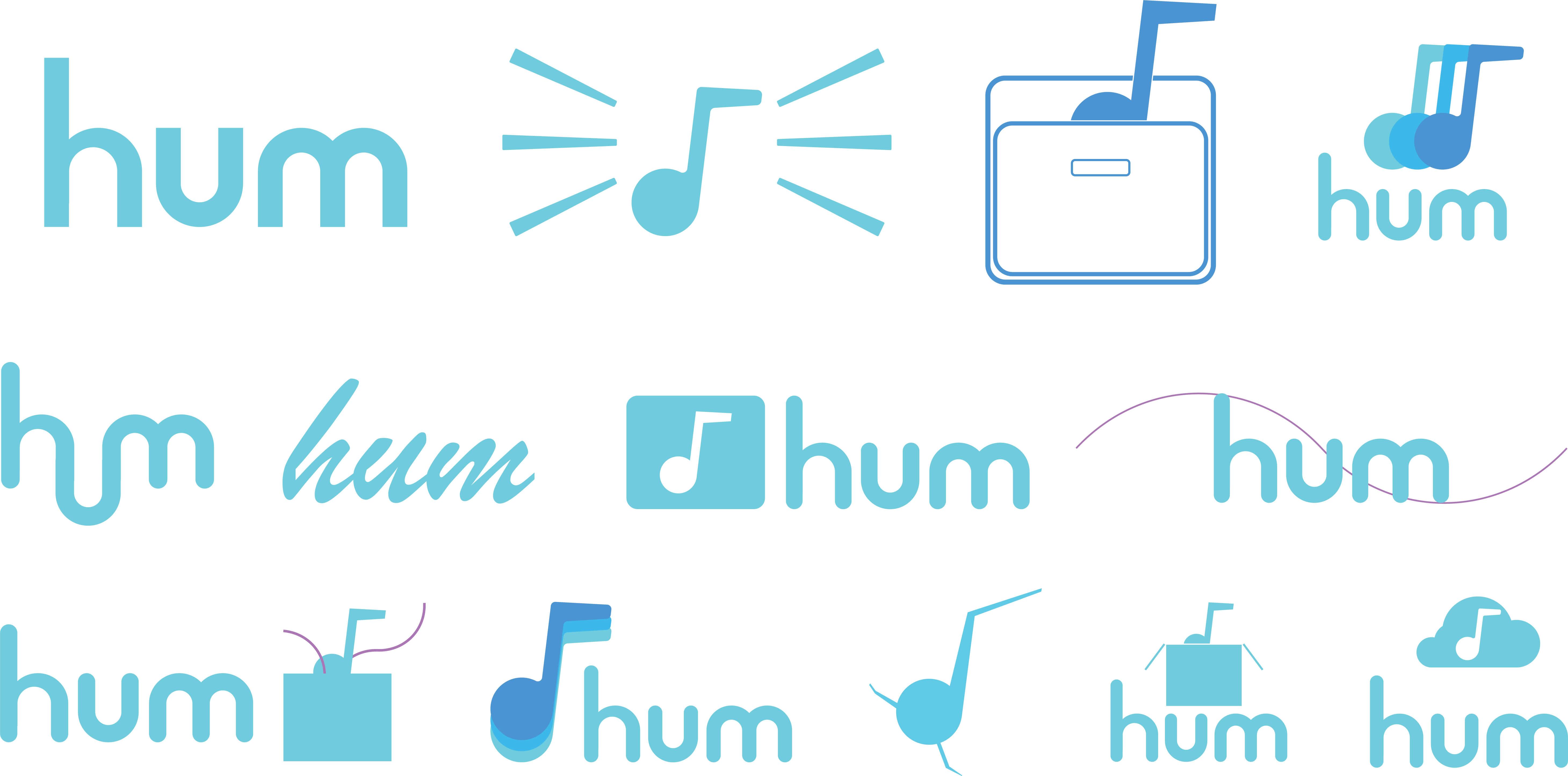 Hum Logo Concepts | Toby Everett