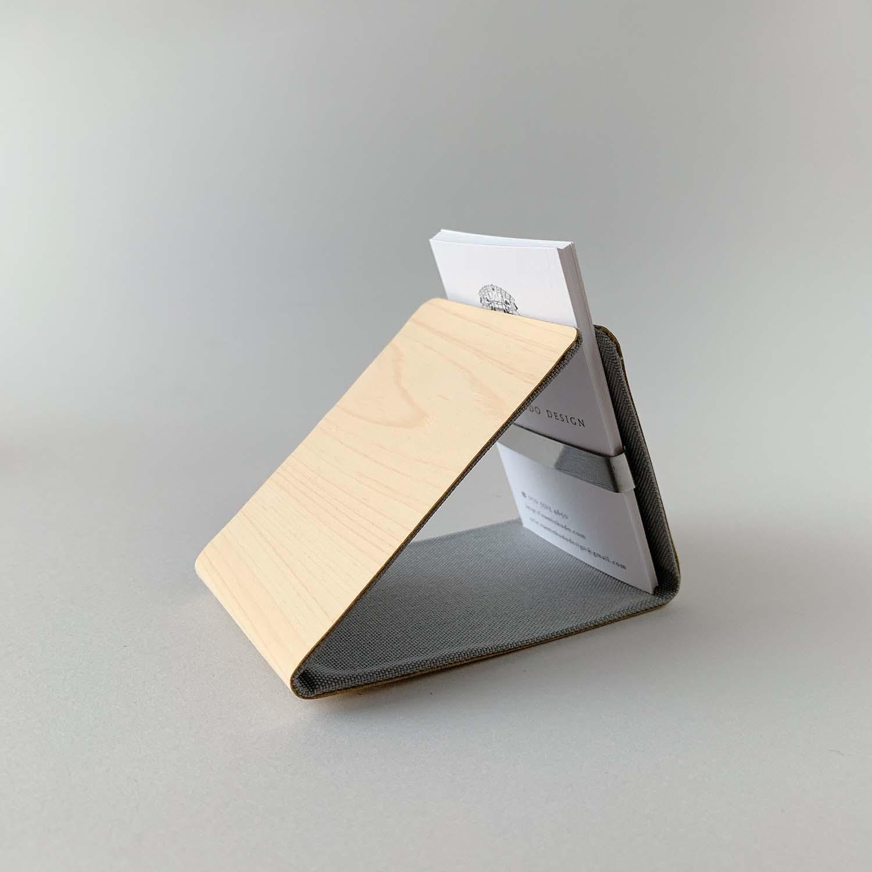 ツリーレザー・カードケース/グレー