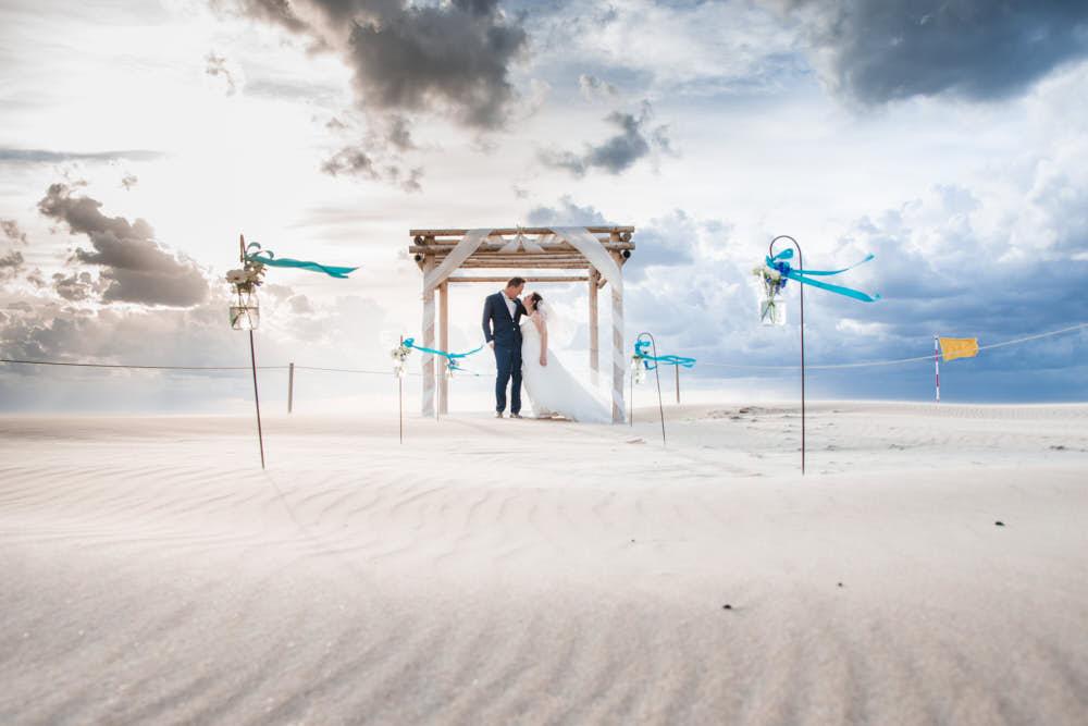 trouwportret strand
