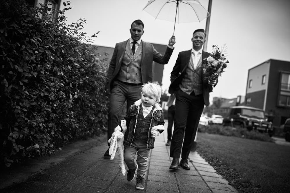 aankomst bruidegom
