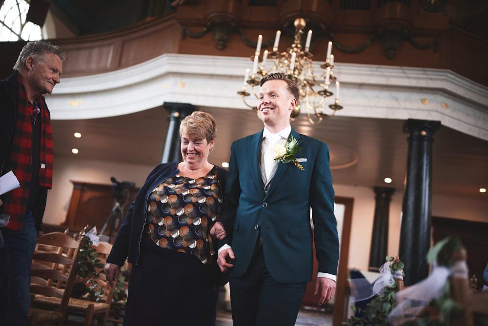 aankomst bruidegom ceremonie