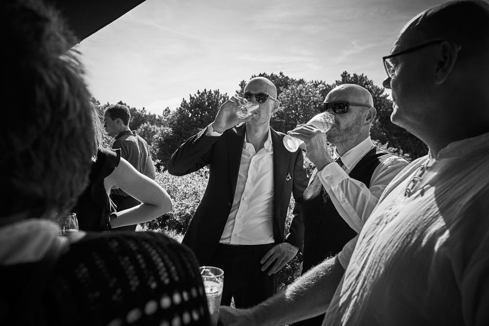 biertje trouwdag