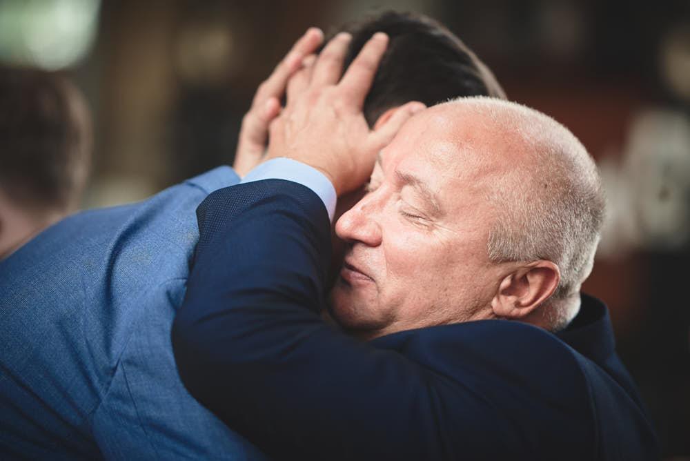 vader bruid trouwdag