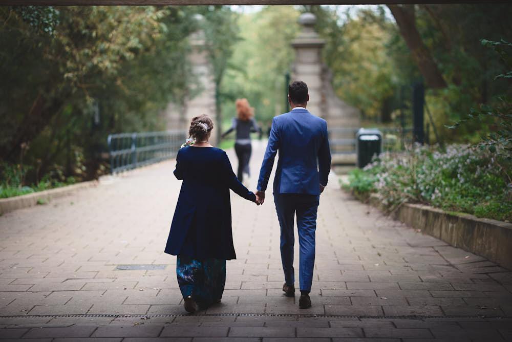wandeling park bruiloft