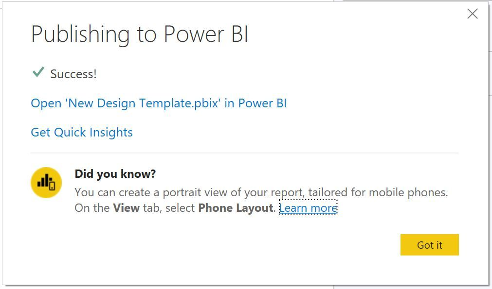 Published Power BI Report with Business Central