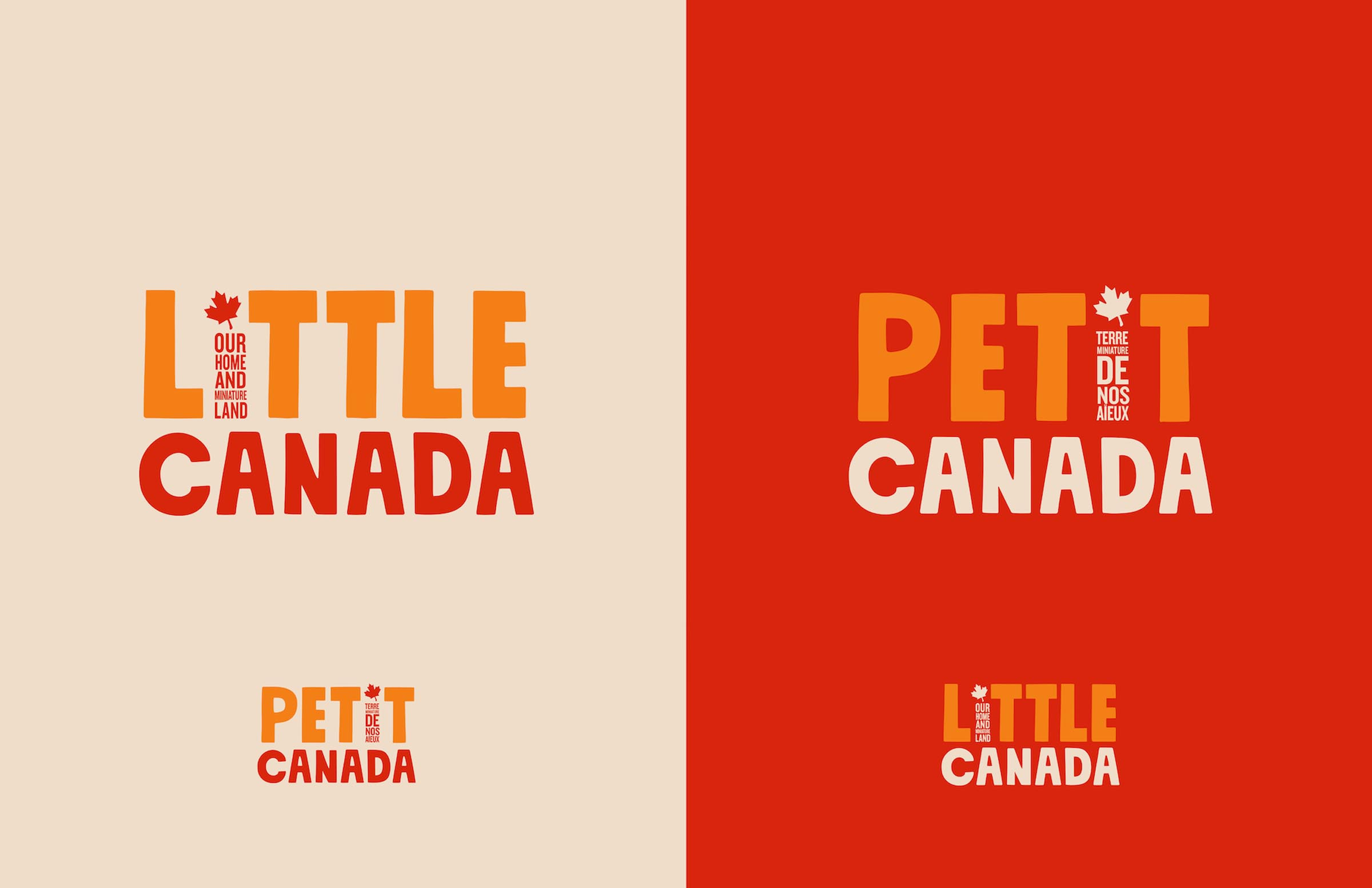 Little Canada Logo in  English and French