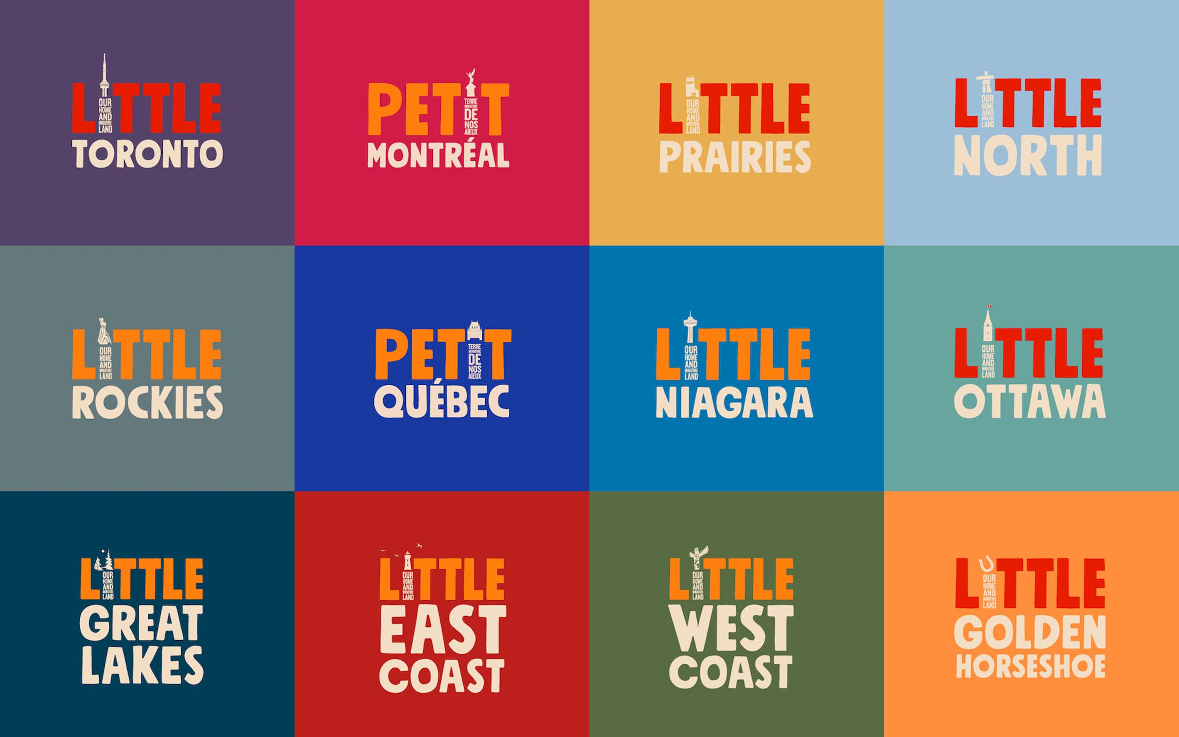 Little Canada logo treatments by province