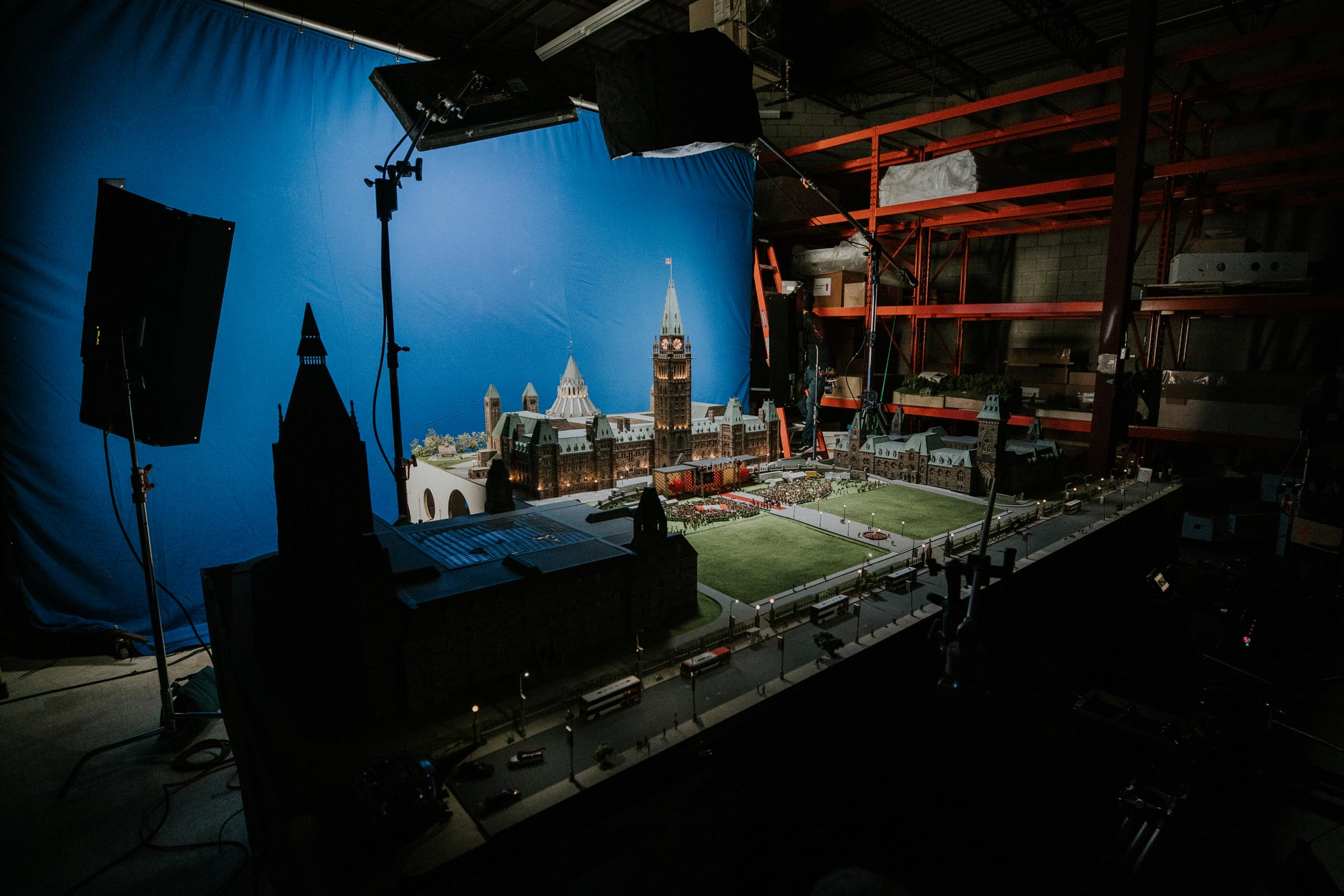 Photo of the making of the Little Canada parliament building of Canada