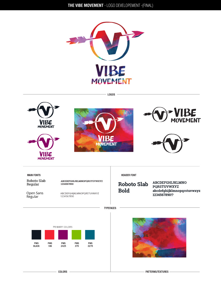 Final style guide for The VIBE Movement