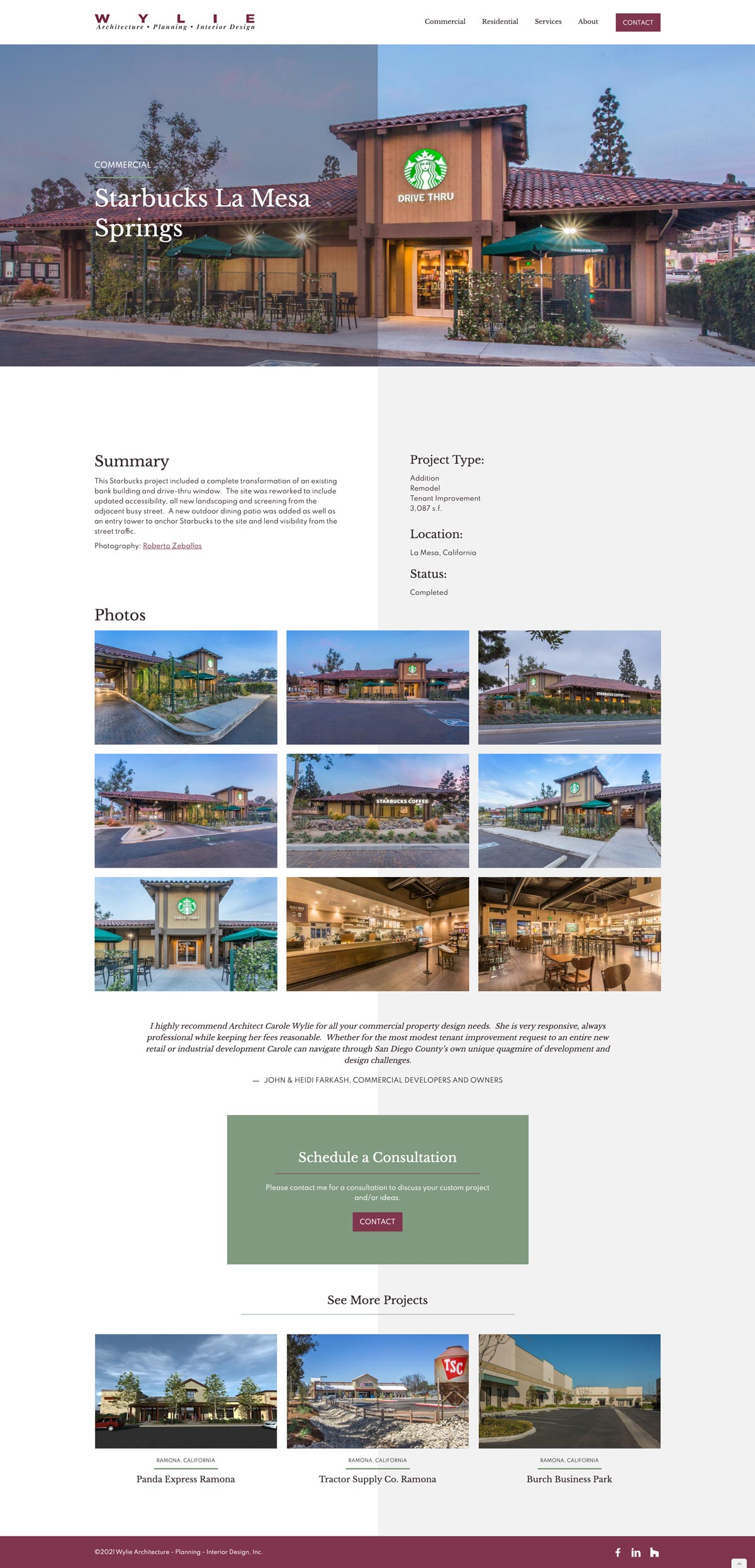 Project Page - This template is scalable based on the project's content