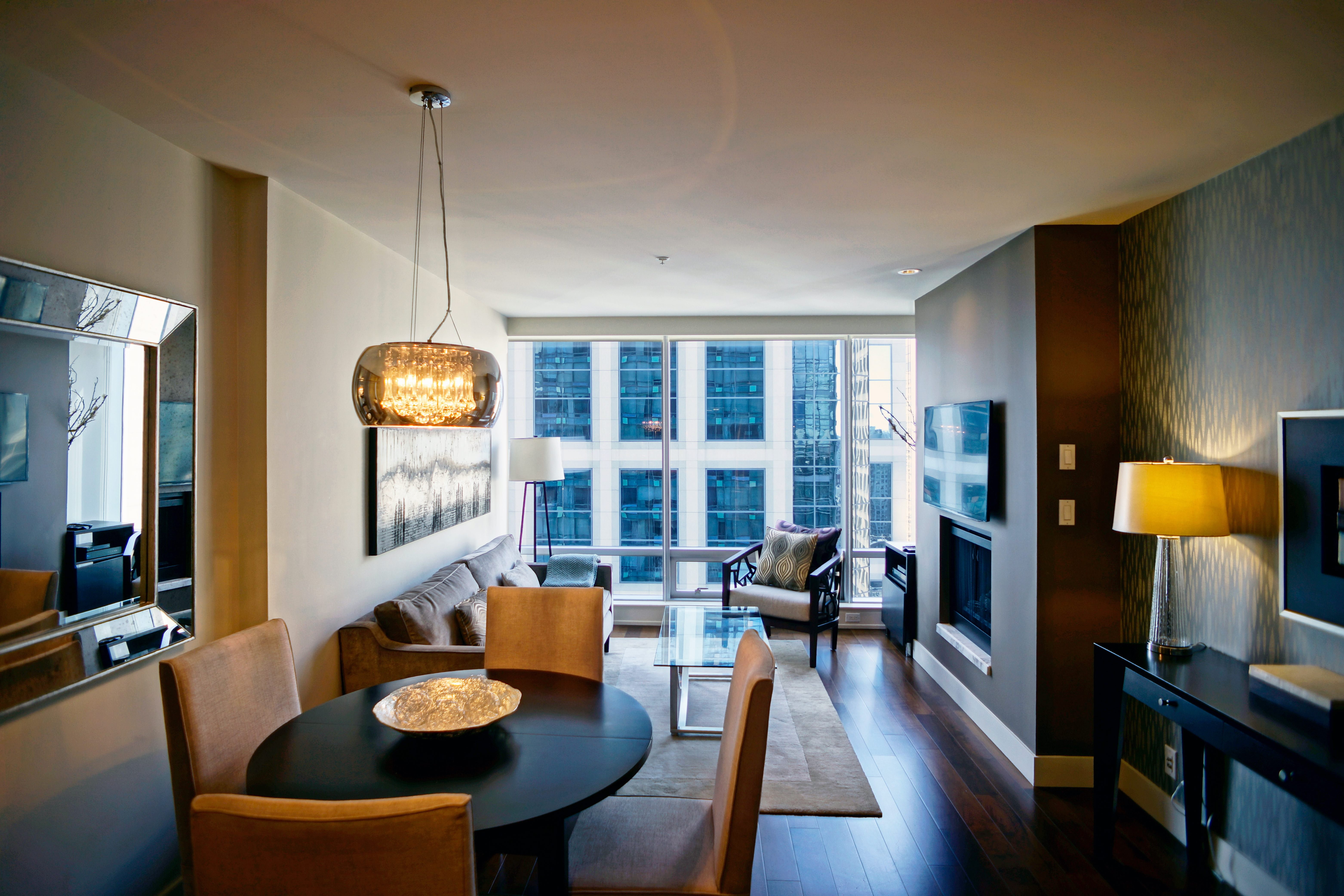 Furnished Deluxe One Bedroom Suite in the Living Shangri-La Vancouver
