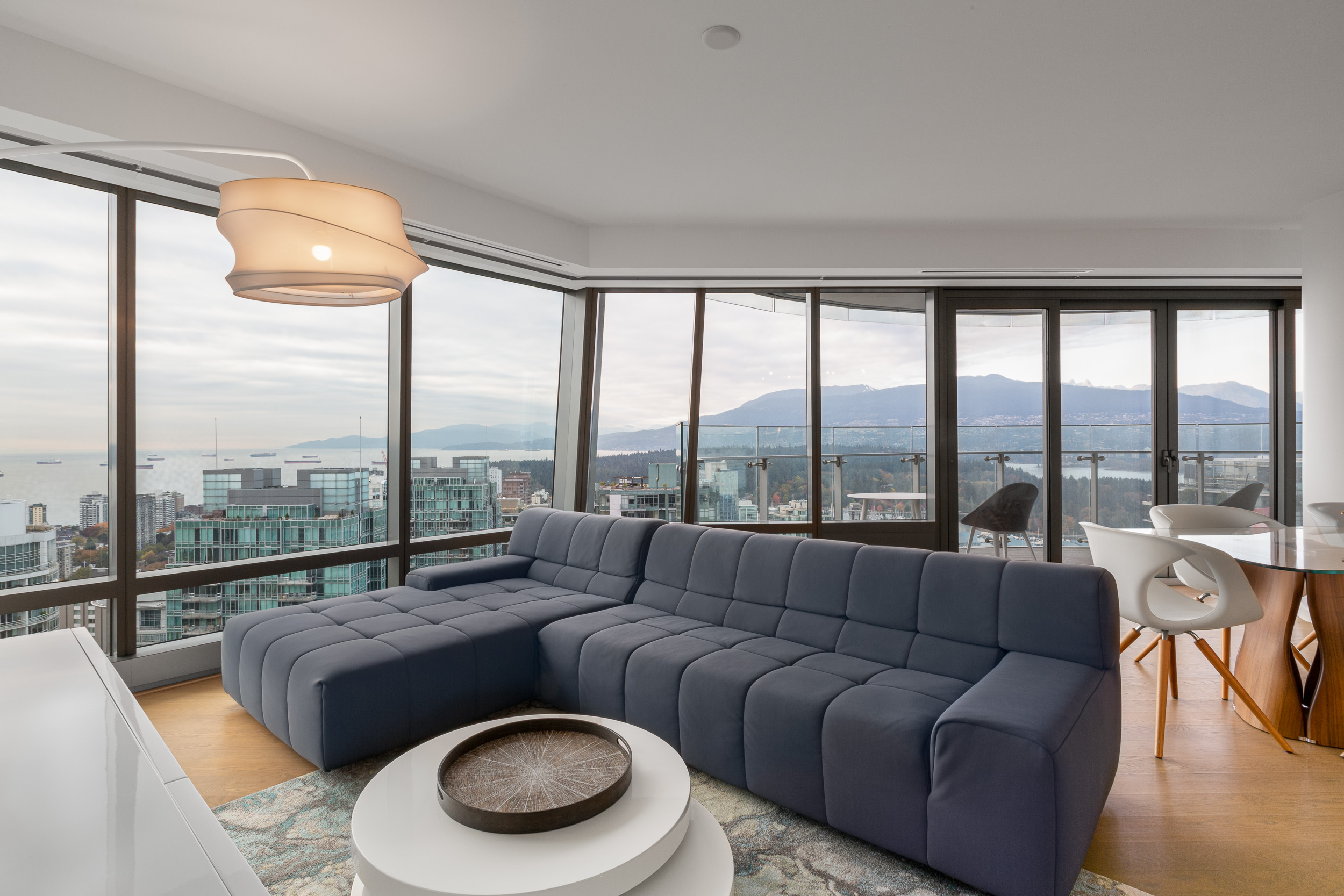 FURNISHED THREE BEDROOM VIEW PROPERTY IN THE LUXURIOUS TRUMP RESIDENCES VANCOUVER