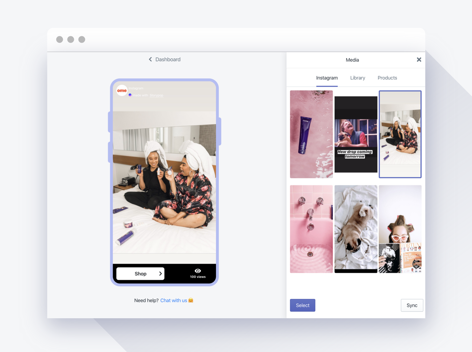 Storypop native Shopify app