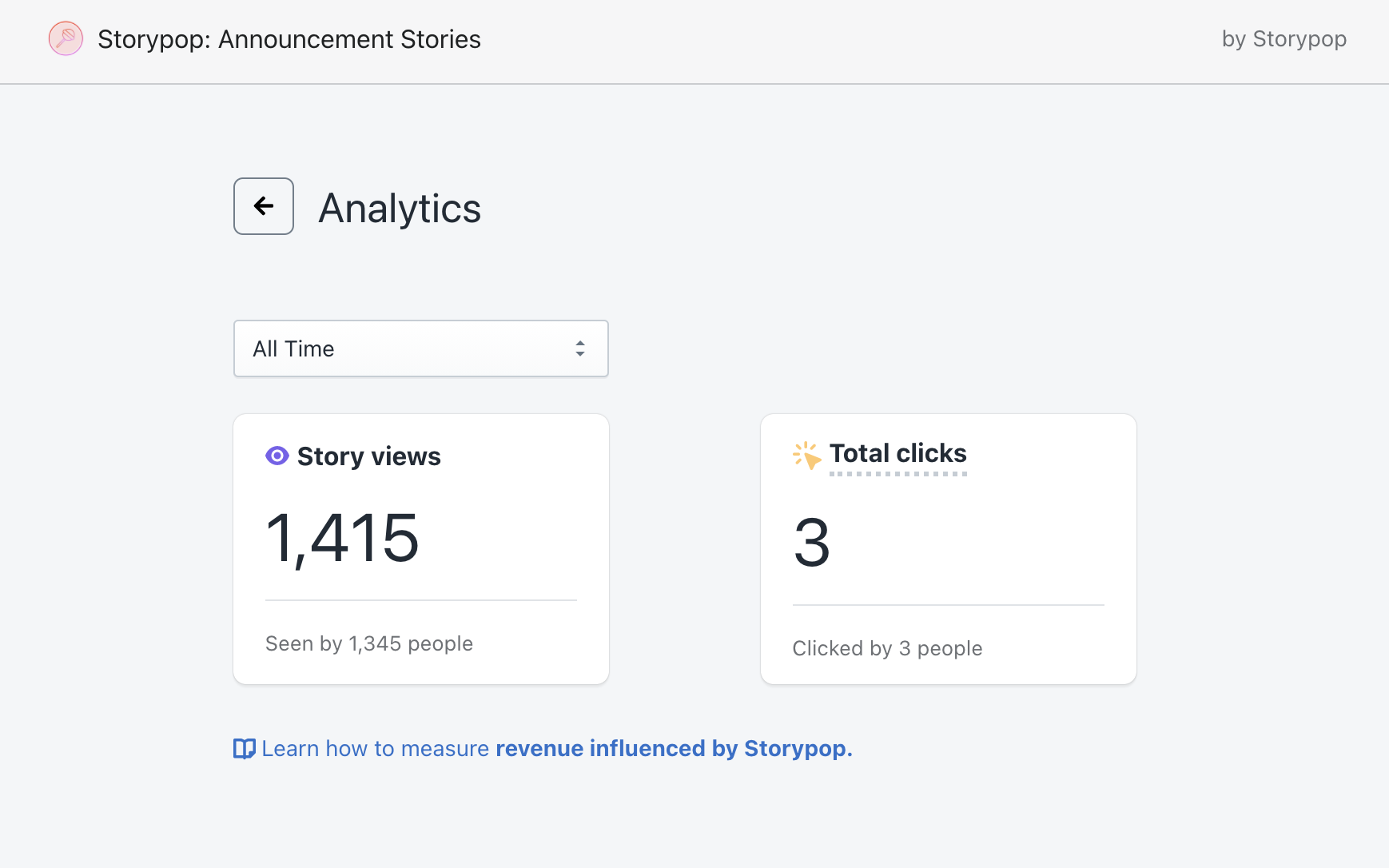 Storypop Analytics Dashboard