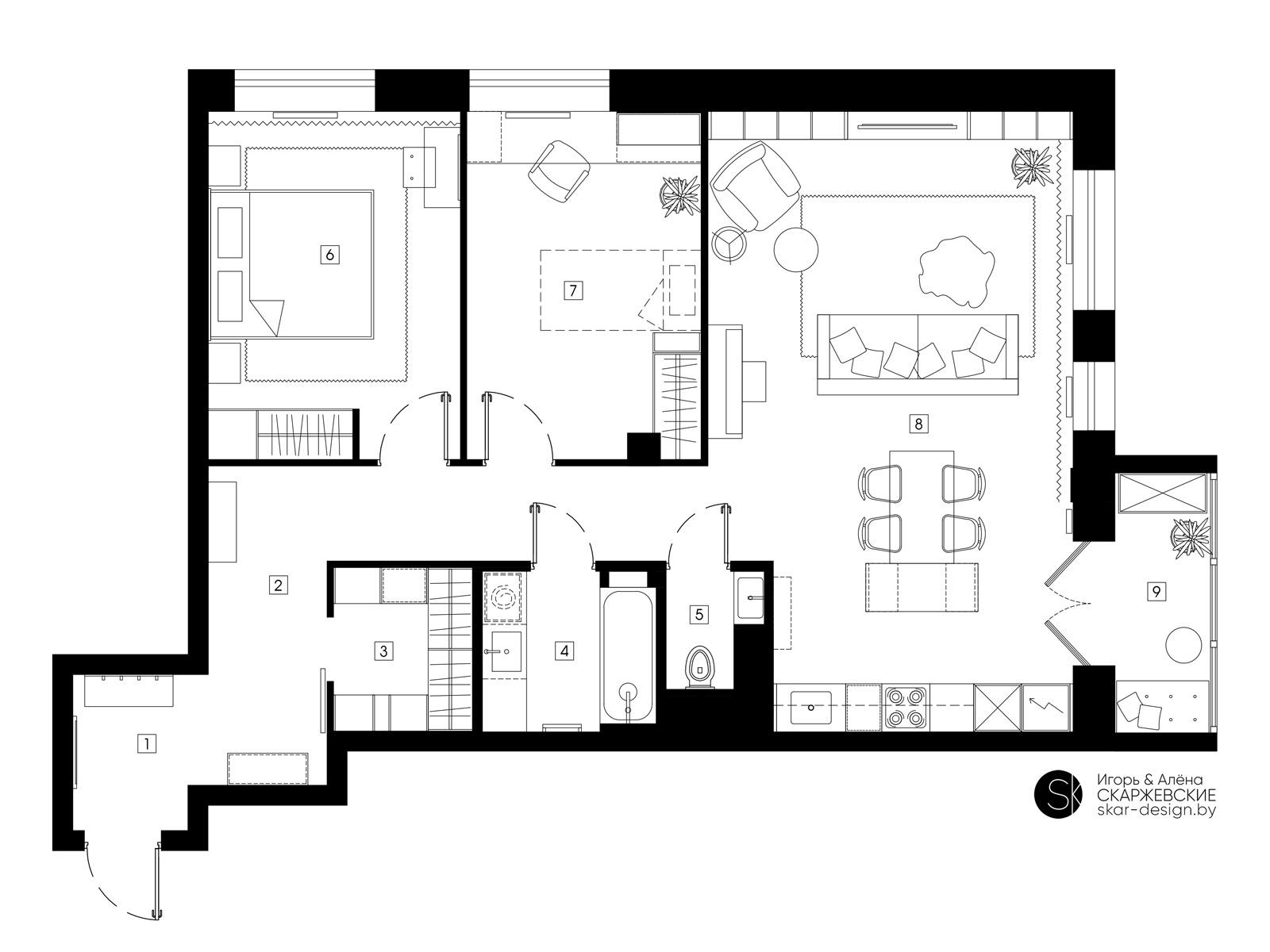 План квартиры в ЖК Измайловский