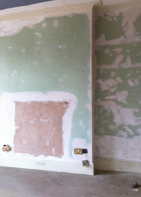 A stripped out interior for a renovation project.