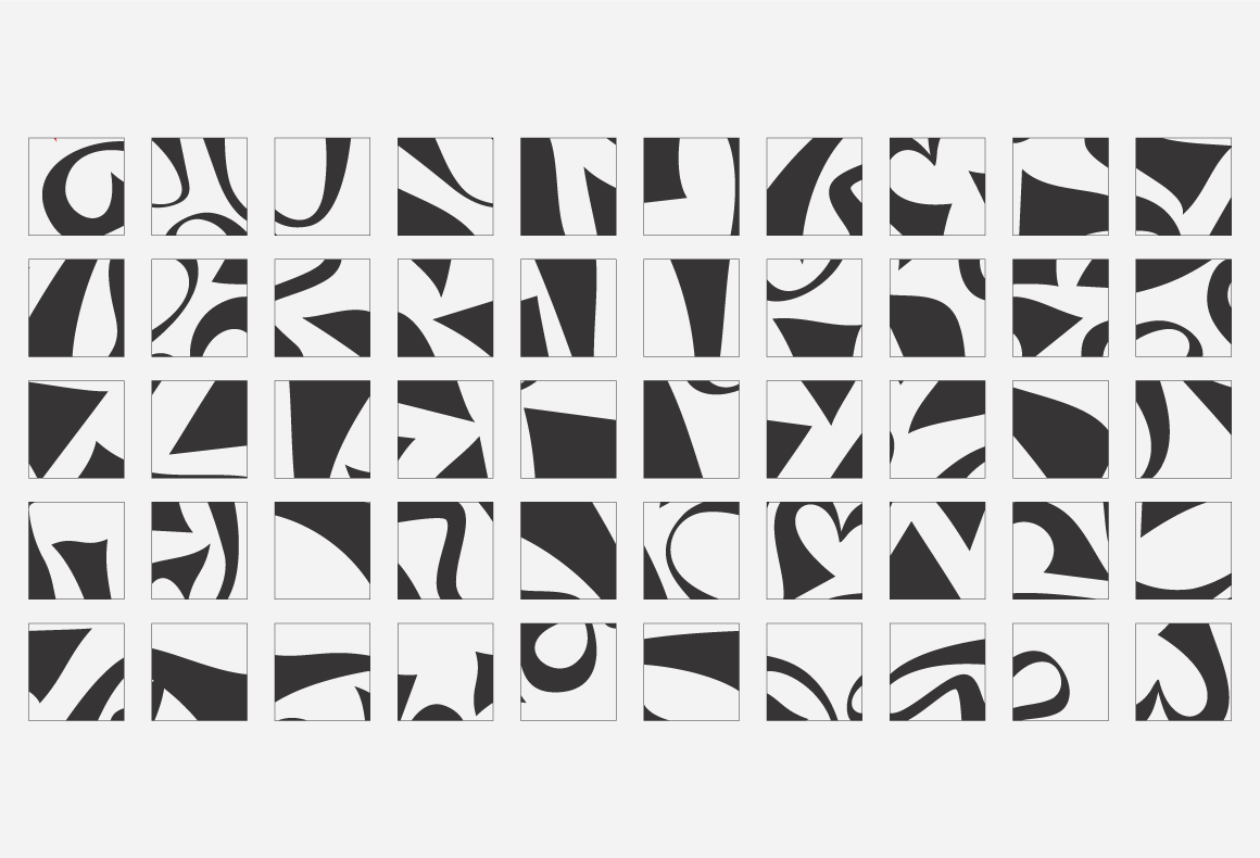 A conceptual black and white pattern for Pere Ubu restaurant.