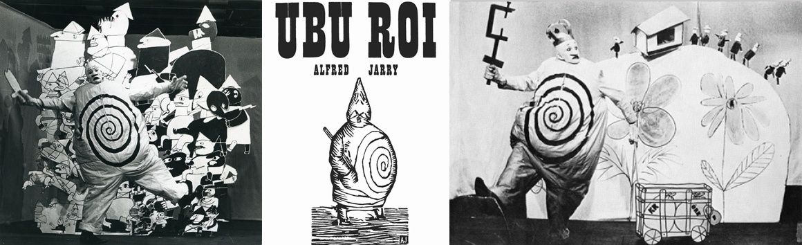 Concept inspiration images for Pere Ubu restaurant based on the costumes and scenery of the theatrical play, Ubu Roi.