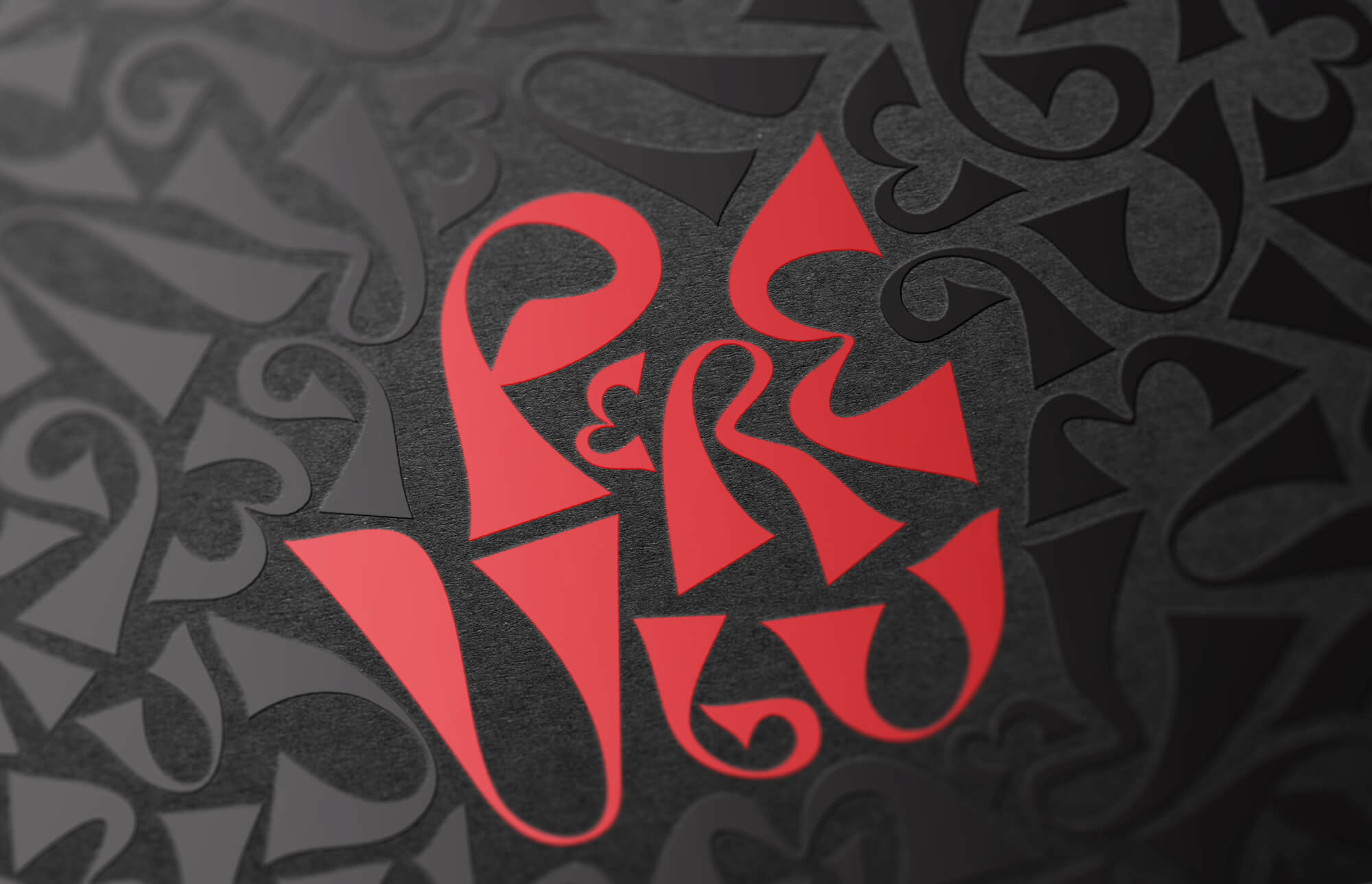 Pere Ubu restaurant logo design using a custom font created by Reform Design, Cyprus.