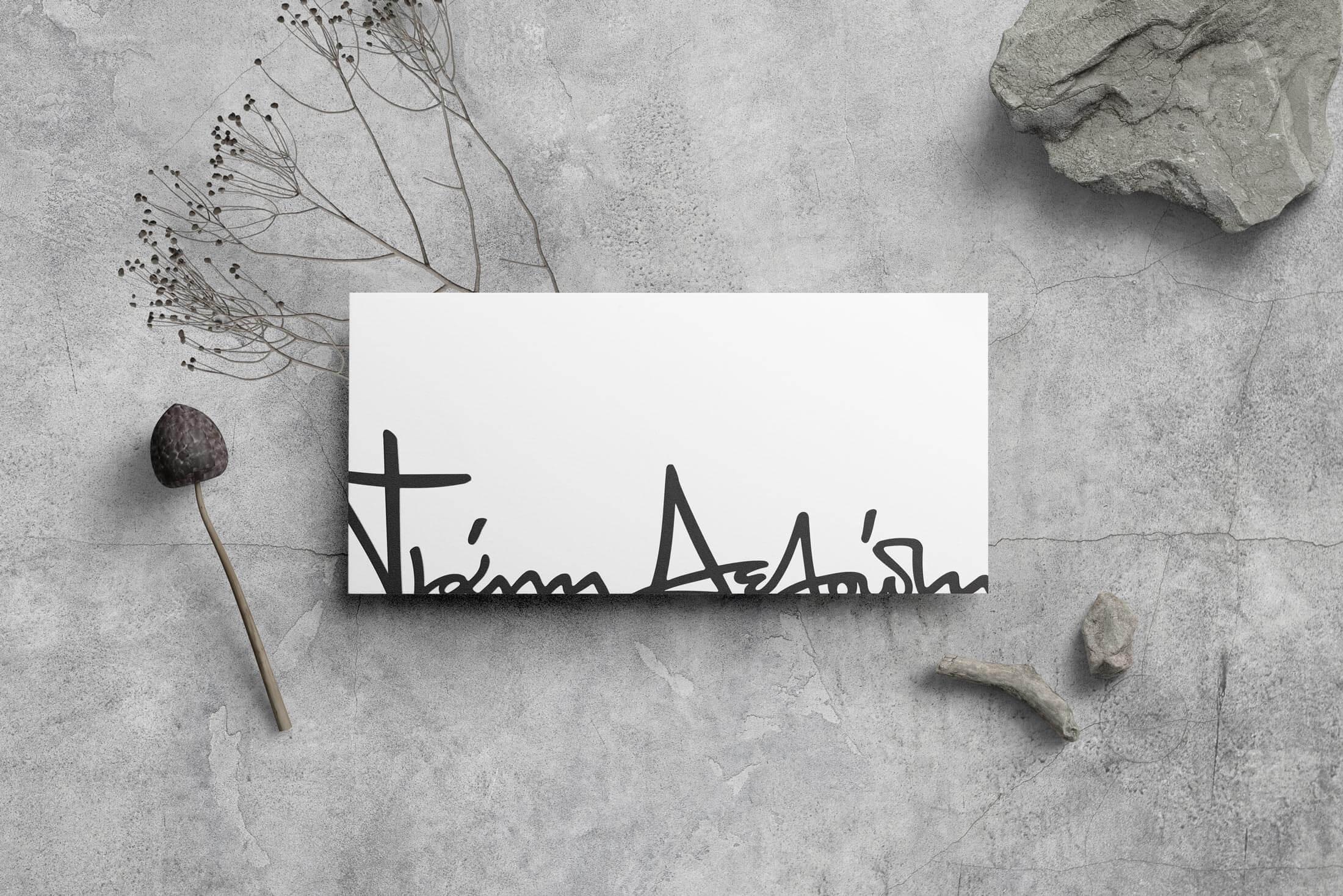 Deloudis brand identity design.